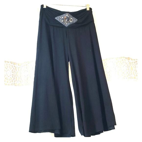 Arden B Pants - Soft jersey wide leg culottes